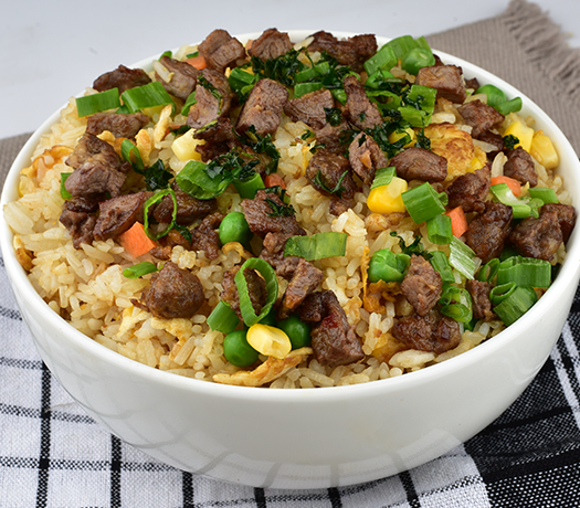 لحم مع أرز مقلى - BEEF FRIED RICE